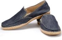 Funk Leck Grey Canvas Shoes For Men(Blue)