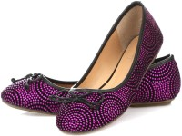 Vero Couture Textured Dot Bellies For Women(Pink)