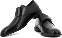 Hush Puppies By Bata Monk Strap Shoes For Men(Black)
