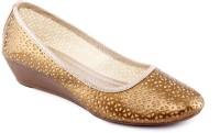 Kielz Ladies Footwear Wedges Belly Bellies For Women(Gold)