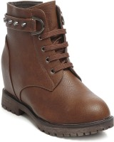 TEN Party & Casual Boots Boots For Women(Brown)