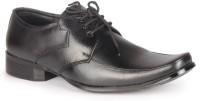 Leather King Davis Black Lace Up For Men(Black)