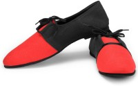 Funk Pan Red and Black Canvas Shoes For Men(Red, Black)