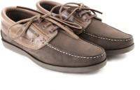 Woodland Men Boat Shoes(Brown)