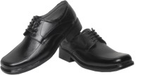 Azzaro Black Jumbo Lace Up Shoes For Men(Black)
