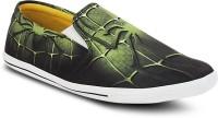 Get Glamr Designer Canvas Shoes For Men(Green)