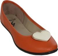 Stylar Heart Punch Bellies For Women(Orange)