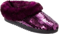 Dearfoams Shiny Sequin Party Wear Shoes For Women(Purple)