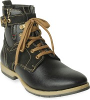 TEN Funky and Stylish Boots For Men(Black)