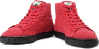Puma Suede Mid Classic+ RoarCat Sneakers For Men(Red)