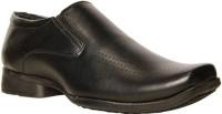 Bata Leo Men Synthetic Leather Slip On Shoes For Men(Black)