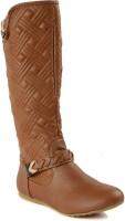Flat n Heels Boots For Women(Tan)