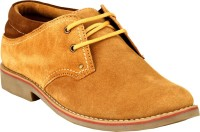 GAI Tan Leather Casual Shoes For Men(Tan)