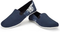 Funk Pard Navy Blue with Faded Blue Canvas Shoes For Men(Blue)