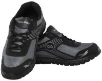 Pure Play Ppgss006BlackGrey Walking Shoes For Men(Black, Grey)