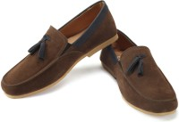 Funk Grone Loafers For Men(Brown, Grey)