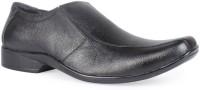 Leather King Toby Black Slip On For Men(Black)