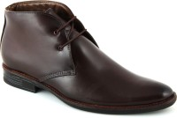 24 Casuals Greek Brown Lace Up Shoes For Men(Brown)