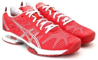 Asics Gel Solution Speed 2 Women Tennis Shoes(Red, White)