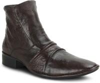 Get Glamr Biker Boots For Men(Brown)