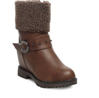 TEN Party & Casual Boot & Uggs Boots For Women(Brown)
