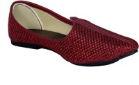 Panahi Maroon Hcrafted Slip On Mojaris Casuals For Men(Maroon)