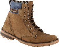 Bacca Bucci Ankle Length Suede Boots For Men(Tan, Blue)