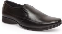 Leather King Carl Black Slip On For Men(Black)
