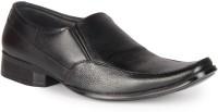Leather King Evans Black Slip On For Men(Black)