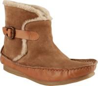 Salt N Pepper 11-382 Ozone Sand Beige Boots For Women(Beige)