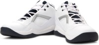 Sparx SM-BB01 Basketball Shoes For Men(White, Silver, Blue)