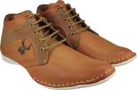 KnightLite Designer Stitched Sneakers For Men(Tan)