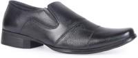 Leather King Leo Black Slip On For Men(Black)