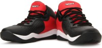 Sparx Mid Ankle Sneakers(Black, Red, White)