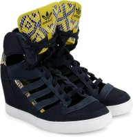 Adidas Originals M Attitude Cutout Up Ef W High Ankle Sneakers For Women(Navy)