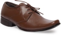 Leather King Samy Blue Lace Up For Men(Brown)