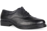 Leather King Joseph Black Lace Up For Men(Black)