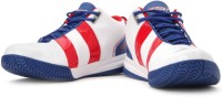 Sparx SM-168 Mid Ankle Sneakers For Men(White, Red, Blue)