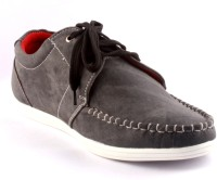 Zapatoz Grey Faded Derby Casual Shoes For Men(Grey)