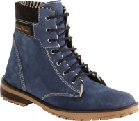 Bacca Bucci Ankle Length Suede Boots For Men(Blue)
