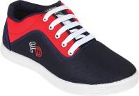 Vonc Navy Blue Canvas Shoes(Navy)