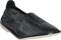 Shoe Bazar Leather Sole Casual Shoes For Men(Black)