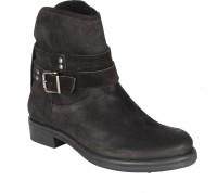 Salt N Pepper 14-648 Dorothea Black Suede Boots Boots For Women(Black)