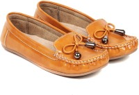 TEN Tan Synthetic Leather Loafer Loafers(Tan)