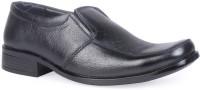 Leather King Noah Black Slip On For Men(Black)