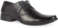 Leather King Samual Black Lace Up For Men(Black)