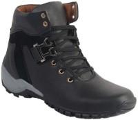 Shoe Island Designer Black Ankle-Length Boots Boots For Men(Black)