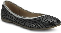 Get Glamr Tigeres Bellies For Women(Black, Silver)