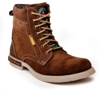 Bacca Bucci Green Hill High Ankle Length Boots For Men(Brown)