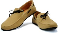 Funk Hing Loafers For Men(Black, Beige)